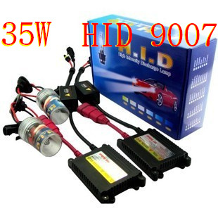 Supply 9007 HID KIT 35W 6000K Slimline Ballast Xenon HID H7 9005 9006 9007 Free Shipping(China (Mainland))