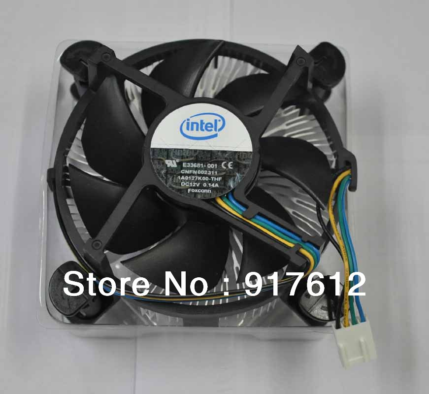 New Genuine Intel CPU Cooler HeatSink and 3.5in Fan Support Core2 Duo Socket 775 Processor up to 3.0G 4 Pin Connector(China (Mainland))