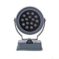 15W LED round head square base Projection Landscape Flood spot advertising stage outdoor light DC12Vor24V  AC85-265V IP65 2160LM