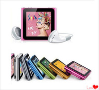 Hotting new 1pcs lot 6th mp3 mp4 player 16GB 1.8 inch Touch Screen With FM,TEXT reader,Audio recorder +Free shipping