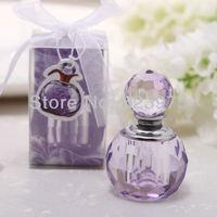 Crystal Perfume Bottle shape Wedding Favor Pink/Purple (Set of 12 )