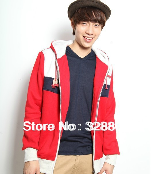 Hoodies Free shipping The new fashion han edition men's fleece White Blue Red Color matching Flag of Russian Federation XXXL(China (Mainland))
