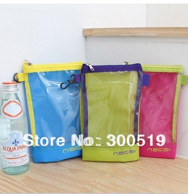 GB042 NaCai Transparent Summer Waterproof Travel Bag Water-resistant Pouch 5pcs/ lot Free Shipping(China (Mainland))