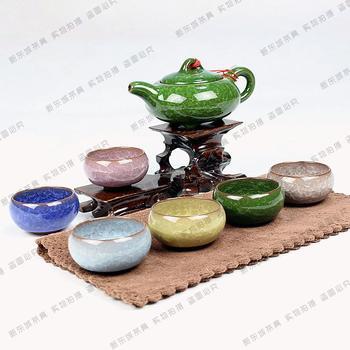 Beautiful ice crack tea sets, tea sets, purple sand tea sets, free shipping