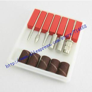 wholesale Nail buffing needle head sand ring set 10sets/lot free shipping