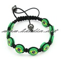 New Arrival Resin Flag Bead Fashion Shamballa Bracelet.12pcs/lot free shipping SCSH-XU02
