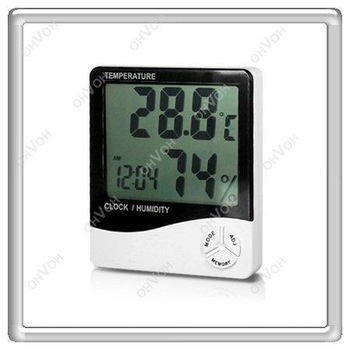 S5V 2013 New LCD Digital Thermometer Hygrometer Humidity clock Display foe Home Office + Free Shipping Wholesale