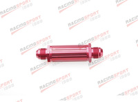 AN -6 AN6 Red Anodised Billet Magnetic Fuel Filter 30 Micron 6AN FF-2504