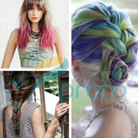 Freeshipping - 24 Colors Fashion Hot Fast Non-toxic Temporary Pastel Hair Dye Color Chalk Dropshipping [Retail] SKU:J0001