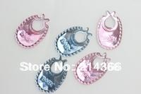Free shipping(1000 pcs/lot) Acrylic baby bid pink/blue color flat baby shower confetti rhinestone favor 1*2cm