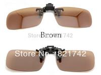 3pcs/lot  2013 Fashion New Dark Brown Sunglasses New Designer Sunglasse Clip On Sunglasses Polarized Unisex Sunglasses