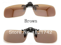 3pcs/lot  2013 Fashion New Dark Brown Sunglasses New Designer Sunglasse Clip On Sunglasses Polarized Unisex Sunglasses