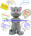 Speak Russian Free Shipping Story Songs Talking Dolls Magic Trick Tom Cat Toys Kids Early Child Educational Repeat Pets 35CM(China (Mainland))