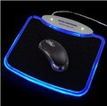 Free Shipping NEW Blue LED Light Mousepad Mouse Pad Mat 4 Ports USB HUB Drop Shipping