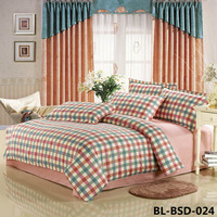 Special Offer 100% Cotton Check Printed Bedding Set, high quality 3 pcs/4 pcs, Free Shipping