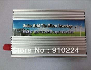 Grid Tie Power Inverter 200Watt Solar Panel 10.5V to 28V Generator EU Plug