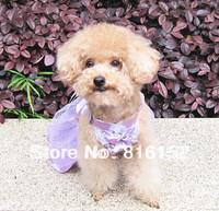 Summer Butterfly Purple Wedding Princess Pet Dress For Small Dogs