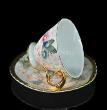 1Cups 1Saucers Stunning Butterflies Love Flower Coffee Set Tea Set