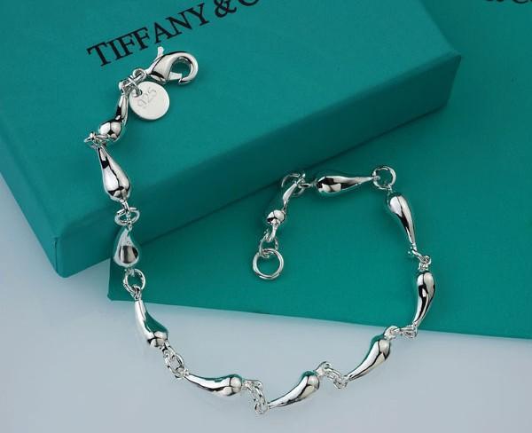 Wholesale 925 Silver Bracelet Fashion Water Drop Silver Bracelets BG007 Free shipping(China (Mainland))