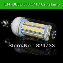 3pcs 2013 New Arrival Warm/Cool White 360 Degree 5050 SMD e14 5W 27 LED 10W 48W Energy Saving 200V-240V Free Shipping(China (Mainland))
