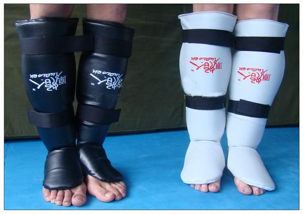 Ruaisen Karatedo Leggings Muay Thai shin guard instep combination#ca1(China (Mainland))