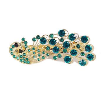 Ocean store fashion peacock hairpin clip hairpin pin rhinestone hair clips hair accessory( min order $10)F010