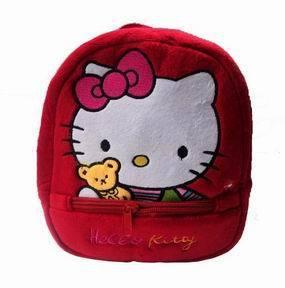 Hello kitty backpacks Plush shoulder bag Kindergarten girls school bags free shipping