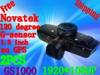 Free Shipping GS1000 Car Recorder Camera With HD1920*1080P Accident Camera Night Vision 4 IR NO GPS Logger G-Sensor(H-10)