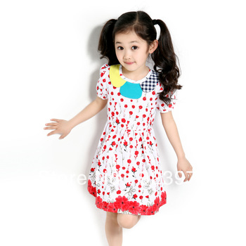 brand Wholesale and retail floral dress for girls baby girl baptism dresses baby party dress dance free shopping