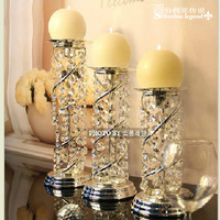 Christmas party decoration wedding decorations crystal candleholder