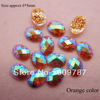 Free Shipping-Orange 200pcs super shine Nail Art Decoration glitter stone