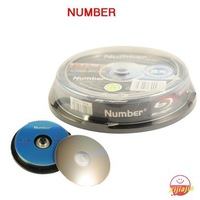 HOT- 2013 New, Number BD-R,4X,25GB,225min HDTV,High quality Blank Blu-ray Disc,10-Disc spindle,Free shipping