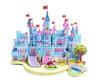 ZILIPOO 3D Puzzle Building Model Toy/ Blue castle, Children's Safe Environmental Protection  Foam+Paper Model DIY Jigsaw 357