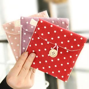 polka dot fluid sanitary napkin sanitary napkin bags storage bag