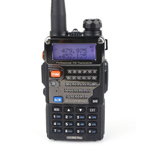 2014 Dual Band Two Way Radio BAOFENG UV-5RE Plus Walkie Talkie 5W 128CH UHF + VHF FM VOX Dual Display UV5RE Plus A0850P(China (Mainland))