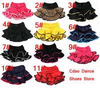 In stock  Women or Girl skirt Latin dance skirt child Latin skirt ballet dance dress 11 colors  Free shipping