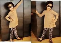 Free Shipping  Children Leggings  Girls' Fashion eopard Print  kids' Pants Fit 2-6yrs 5 pcs/lot