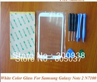 Freeshipping White Color Digitizer Touch Outer Glass Lens Screen FOR Samsung Galaxy Note 2 II N7100 Replacement