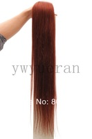 "wholesale Straight 10 pcs 160g 18"" - 32""  #33 - dark auburn clip in on full head remy real 100% human hair extensions"