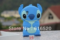 For LG optimus L5 E610 E612 Retail 1pcs/lot 3D Cute Stitch Soft Silicone Case Back Cover Free shipping Via Post