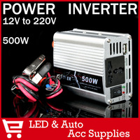 500W Watt 12V 220V Portable Automotive Power Inverter Charger Converter Adpter DC 12 to AC 220 Modified Sine Wave FREE SHIPPING