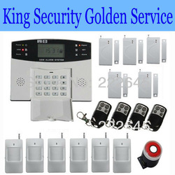 Wireless Home GSM SMS Telephone Security Burglar Alarm System LCD Screen Free Shipping(China (Mainland))