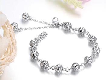 925 Silver Bracelet Модный Hollow Silver Bracelets BG017