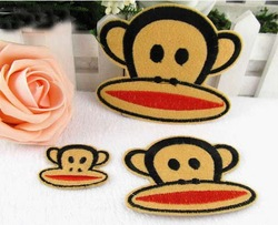 Free shipping! Wholesale and retail Jonadab cartoon 1set (3 size design) monkey child for clothing patch applique(China (Mainland))