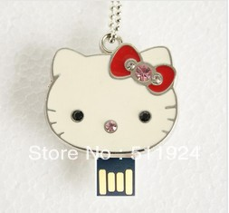 """Hell kitty"" Jewelry usb flash drive HOT Usb 2.0 2gb 4gb 8gb 16gb Usb Pendrive Free shipping(China (Mainland))"