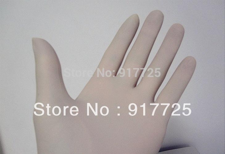 Dentaires 8.5# jetables médicaux stériles sans poudre gants en caoutchouc( le montant de la poudre de moins) d'emballage. seul 1/sac