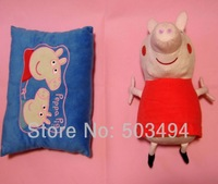 Free shipping Peppa Pig Hug n Snuggle Reversible Pillow Plush Toy and Pillow Double Use Plush Toys