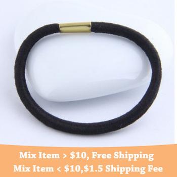 Cheapest !!! Fashion korean 5cm Black Elastic hairbands jewelry
