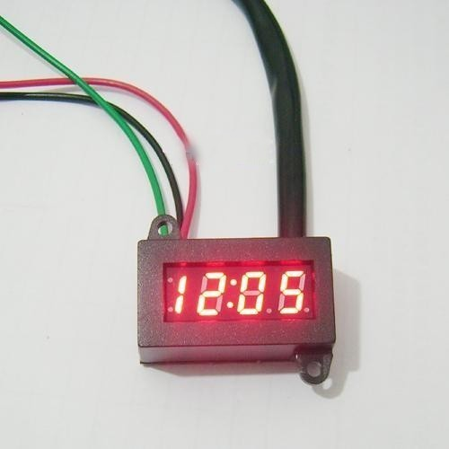 Micro Digital Clock Red LED For Car Motorcycle Motorbike Scooter Bike Yoke Mount(China (Mainland))