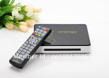 GV10  Cortex A9 Google Android TV Box WITH DVB-T  USB RJ45 HDMI Internet Smart TV Box with Remote